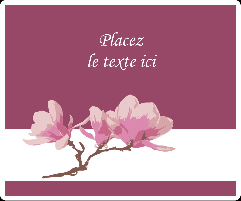 """3⅓"""" x 4"""" Étiquettes d'expédition - Magnolia printanier"""