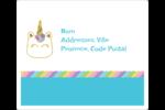 Fête de la licorne scintillante Étiquettes D'Adresse - gabarit prédéfini. <br/>Utilisez notre logiciel Avery Design & Print Online pour personnaliser facilement la conception.