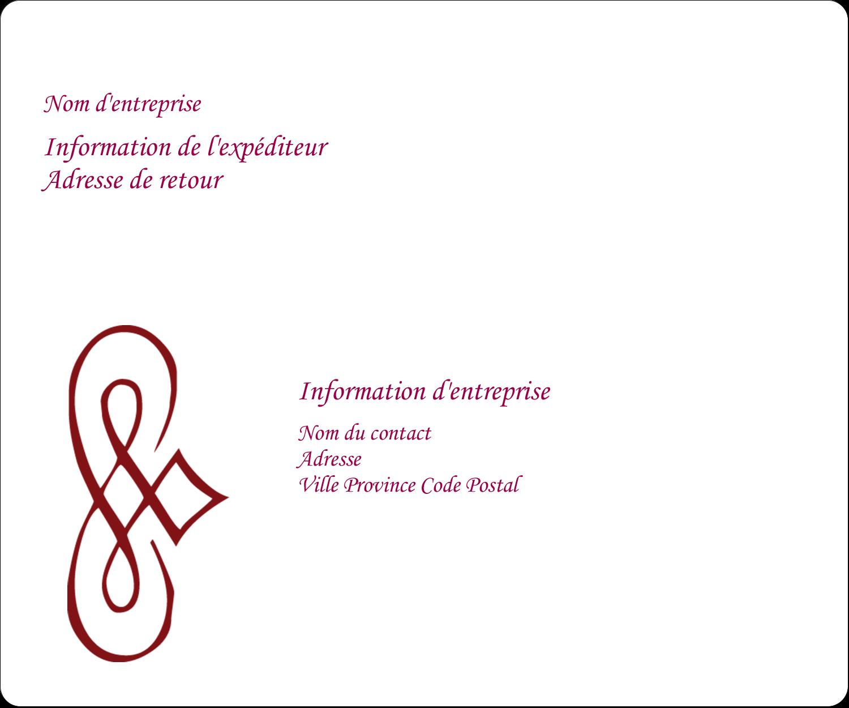 """½"""" x 1¾"""" Étiquettes D'Adresse - Diamant stylisé"""