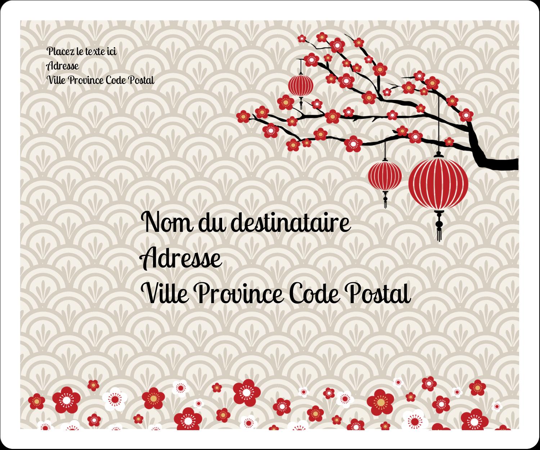"""½"""" x 1¾"""" Étiquettes D'Adresse - Nouvel An chinois"""