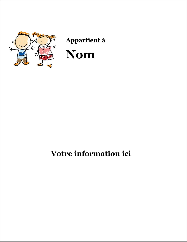 Éducation des enfants Étiquettes Spéciales - gabarit prédéfini. <br/>Utilisez notre logiciel Avery Design & Print Online pour personnaliser facilement la conception.