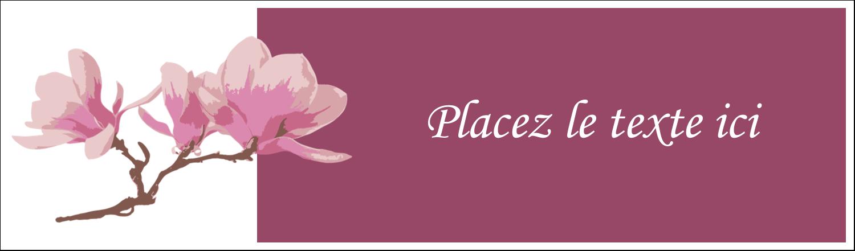 """2½"""" x 8½"""" Affichette - Magnolia printanier"""