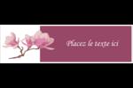 Magnolia printanier Affichette - gabarit prédéfini. <br/>Utilisez notre logiciel Avery Design & Print Online pour personnaliser facilement la conception.