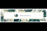 Verdure tropicale Affichette - gabarit prédéfini. <br/>Utilisez notre logiciel Avery Design & Print Online pour personnaliser facilement la conception.