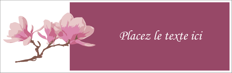 """3½"""" x 11"""" Affichette - Magnolia printanier"""