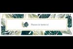 Verdure tropicale Carte de note - gabarit prédéfini. <br/>Utilisez notre logiciel Avery Design & Print Online pour personnaliser facilement la conception.