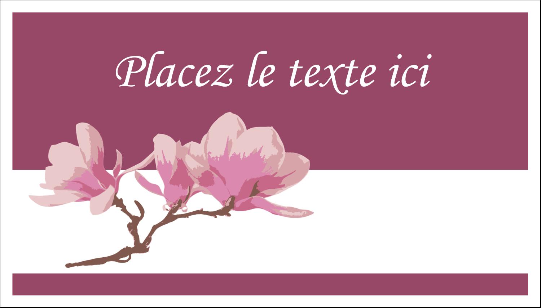 "2"" x 3½"" Cartes d'affaires - Magnolia printanier"