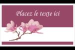 Magnolia printanier Cartes d'affaires - gabarit prédéfini. <br/>Utilisez notre logiciel Avery Design & Print Online pour personnaliser facilement la conception.