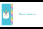 Fête de la licorne scintillante Carte d'affaire - gabarit prédéfini. <br/>Utilisez notre logiciel Avery Design & Print Online pour personnaliser facilement la conception.