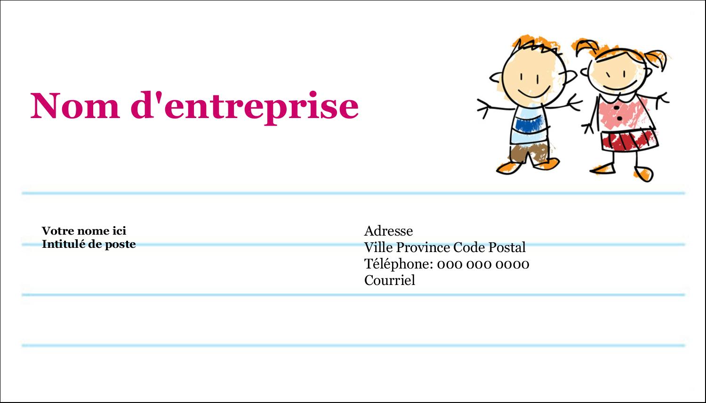 """2"""" x 3½"""" Cartes d'affaires - Éducation des enfants"""