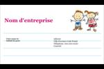 Éducation des enfants Cartes d'affaires - gabarit prédéfini. <br/>Utilisez notre logiciel Avery Design & Print Online pour personnaliser facilement la conception.