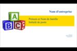 Blocs pour enfants Carte d'affaire - gabarit prédéfini. <br/>Utilisez notre logiciel Avery Design & Print Online pour personnaliser facilement la conception.