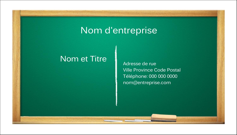 "2"" x 3½"" Carte d'affaire - Tableau vert"