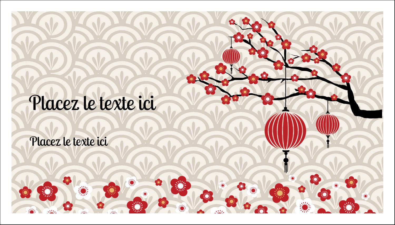 """2"""" x 3½"""" Carte d'affaire - Nouvel An chinois"""