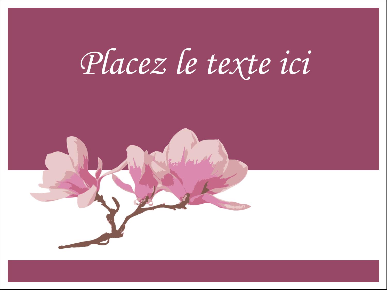 """3"""" x 4"""" Étiquettes badges autocollants - Magnolia printanier"""
