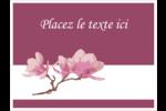 Magnolia printanier Étiquettes badges autocollants - gabarit prédéfini. <br/>Utilisez notre logiciel Avery Design & Print Online pour personnaliser facilement la conception.