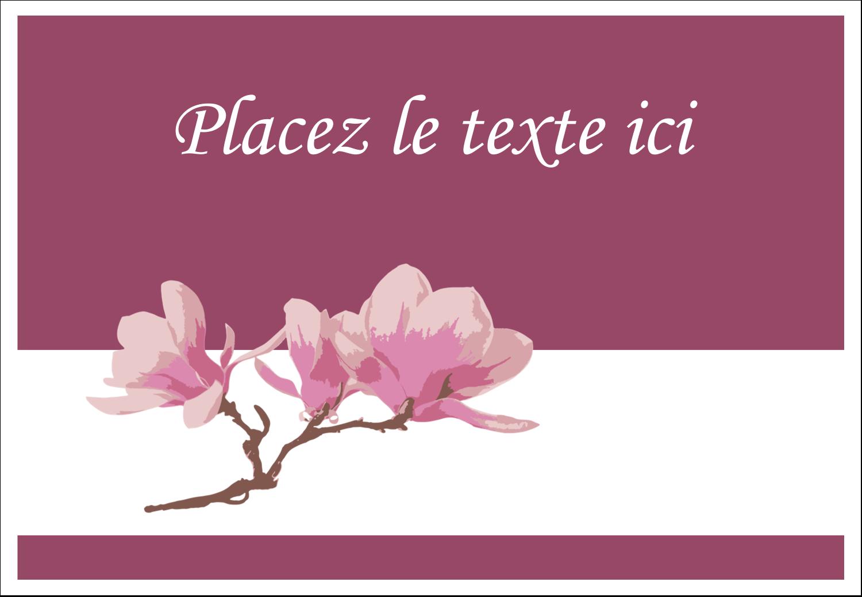 "3⅜"" x 2⅓"" Badges - Magnolia printanier"