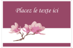Magnolia printanier Badges - gabarit prédéfini. <br/>Utilisez notre logiciel Avery Design & Print Online pour personnaliser facilement la conception.