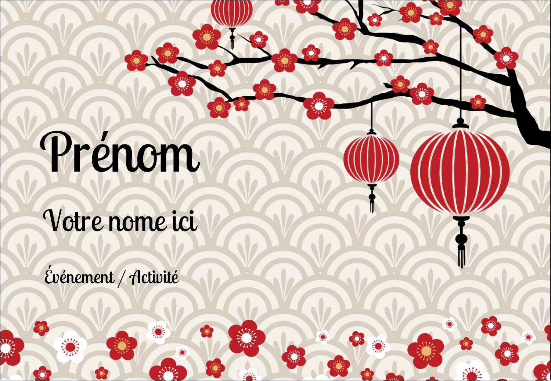 """1¼"""" Étiquettes à codage couleur - Nouvel An chinois"""