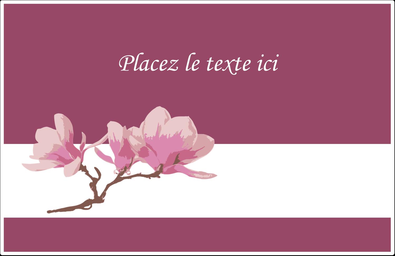 """8½"""" x 5½"""" Étiquettes d'expédition - Magnolia printanier"""