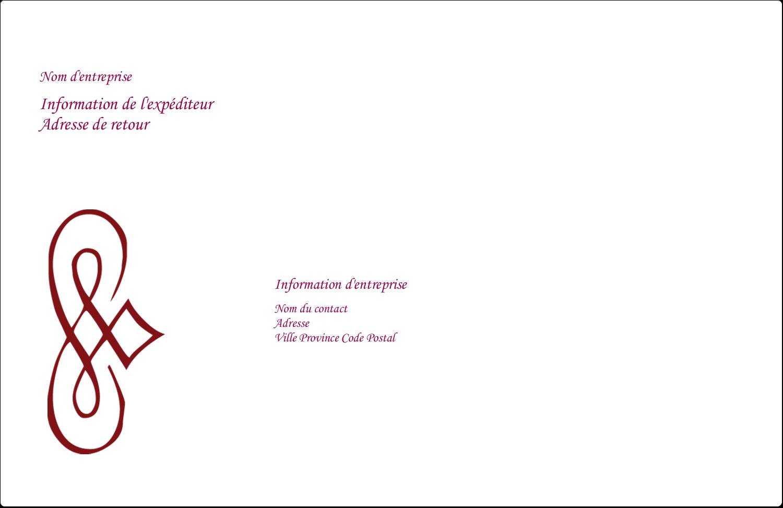 """1½"""" x 4"""" Étiquettes d'adresse - Diamant stylisé"""