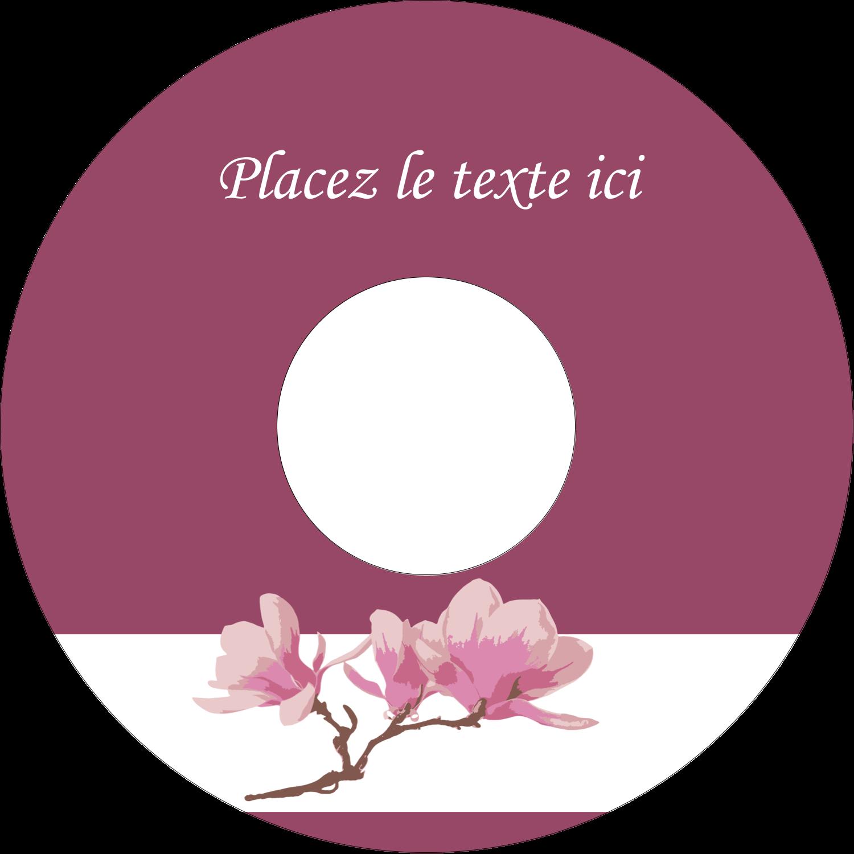 CD/DVD Étiquettes Pour Médias - Magnolia printanier
