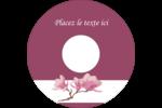 Magnolia printanier Étiquettes Pour Médias - gabarit prédéfini. <br/>Utilisez notre logiciel Avery Design & Print Online pour personnaliser facilement la conception.