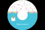 Fête de la licorne scintillante Étiquettes de classement - gabarit prédéfini. <br/>Utilisez notre logiciel Avery Design & Print Online pour personnaliser facilement la conception.