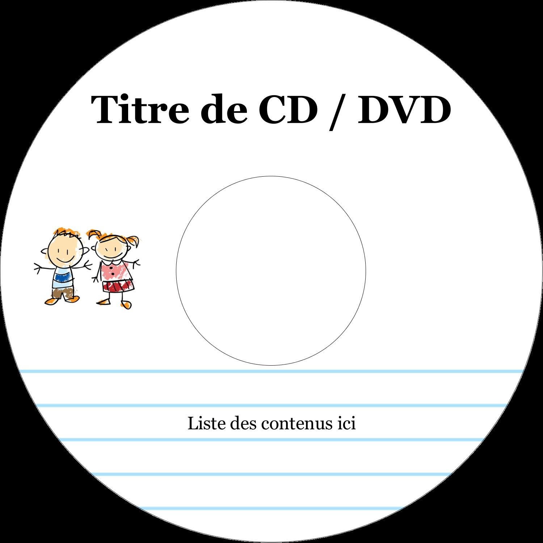 CD/DVD Étiquettes Pour Médias - Éducation des enfants