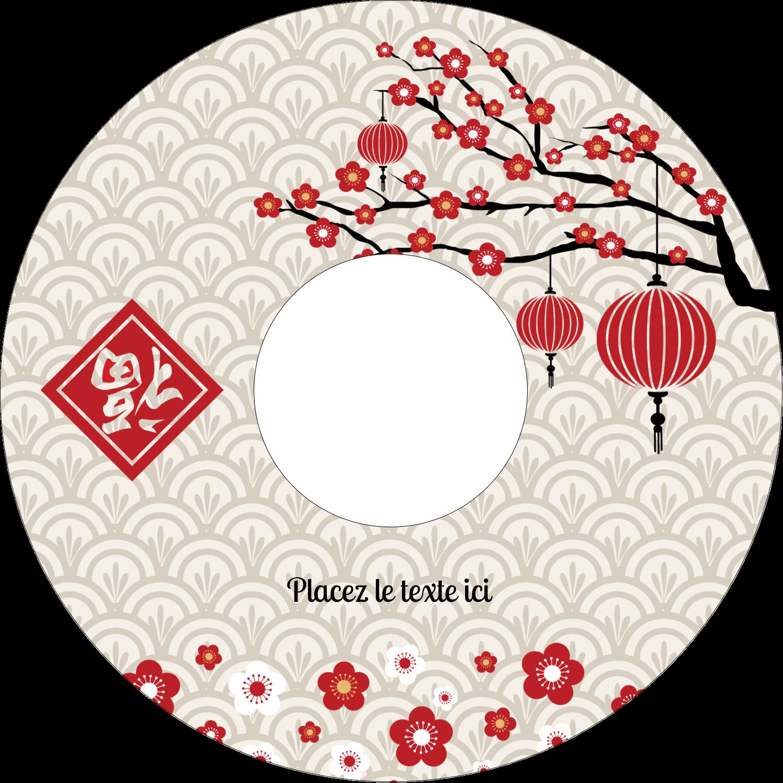 """⅔"""" x 3-7/16"""" Étiquettes de classement - Nouvel An chinois"""