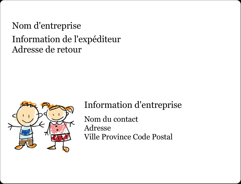 """2⅝"""" x 2"""" Étiquettes D'Identification - Éducation des enfants"""