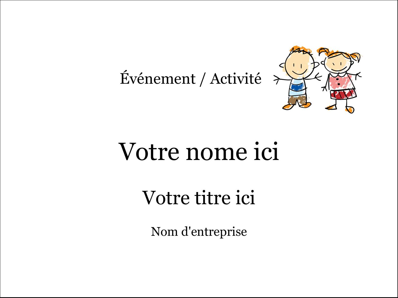 """4"""" x 3"""" Badges - Éducation des enfants"""