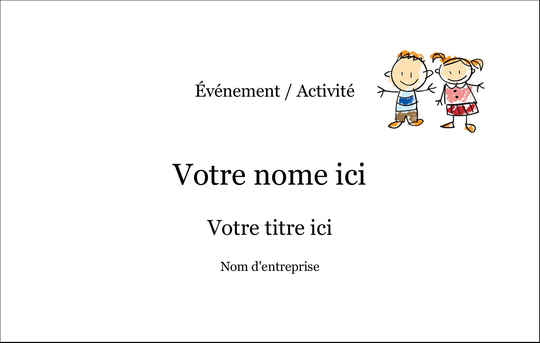 """2¼"""" x 3½"""" Badges - Éducation des enfants"""