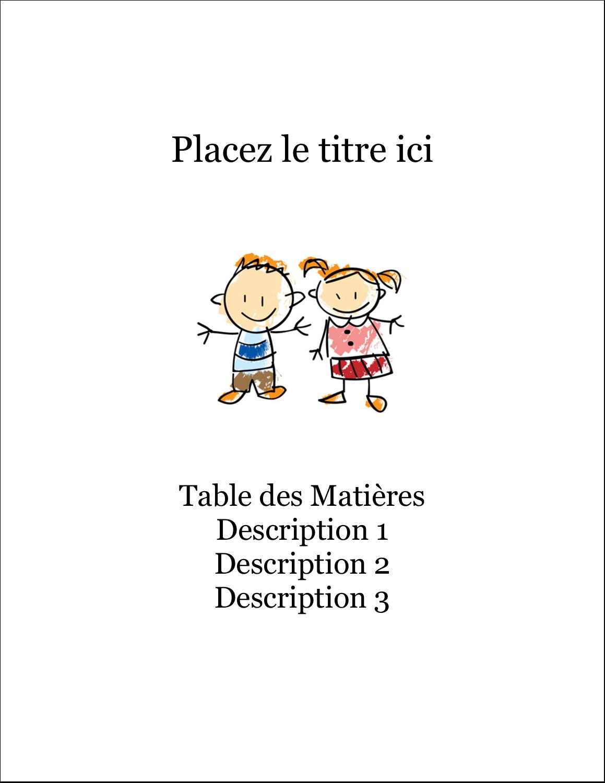 "8½"" x 11"" Binder Insert Reliures - Éducation des enfants"