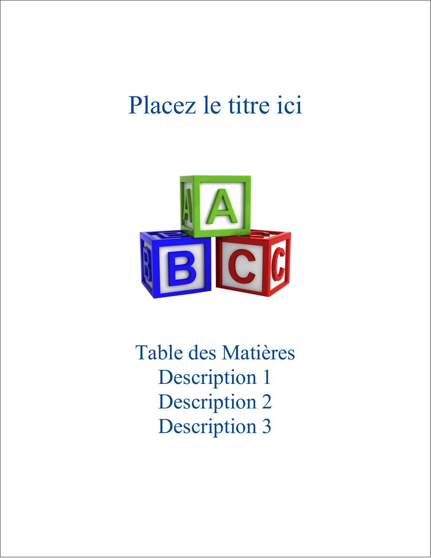 """8½"""" x 11"""" Binder Insert Reliures - Blocs pour enfants"""