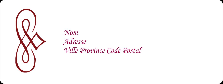 """4"""" x 1⅓"""" Étiquettes D'Adresse - Diamant stylisé"""
