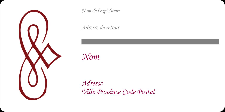 """3-7/16"""" x ⅔"""" Étiquettes Polyvalentes - Diamant stylisé"""