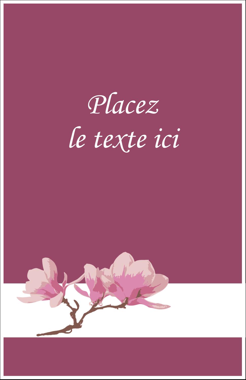 """8½"""" x 5"""" Cartes Et Articles D'Artisanat Imprimables - Magnolia printanier"""