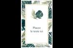 Verdure tropicale Reliures - gabarit prédéfini. <br/>Utilisez notre logiciel Avery Design & Print Online pour personnaliser facilement la conception.