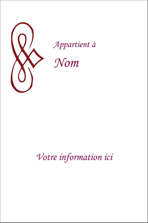 """3½"""" x 1"""" Étiquettes pour couvertures de rapport - Diamant stylisé"""