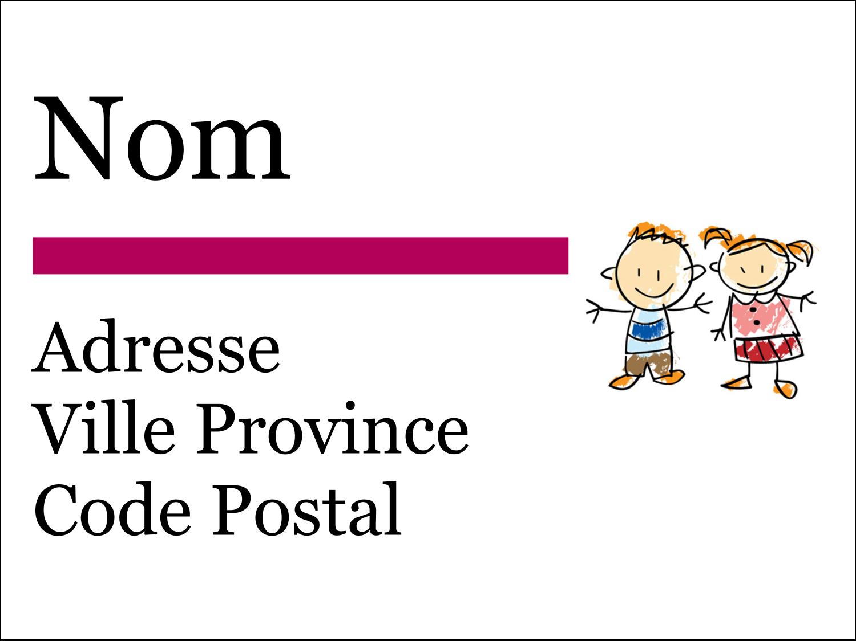 Éducation des enfants Étiquettes Polyvalentes - gabarit prédéfini. <br/>Utilisez notre logiciel Avery Design & Print Online pour personnaliser facilement la conception.