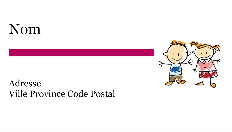 """4"""" x 2"""" Étiquettes Polyvalentes - Éducation des enfants"""
