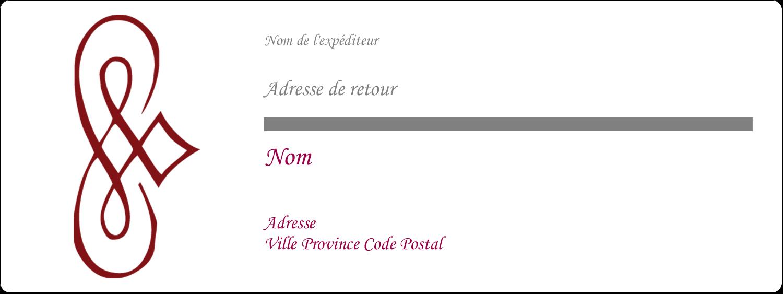 """1"""" x 2⅝"""" Étiquettes D'Adresse - Diamant stylisé"""