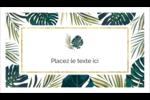 Verdure tropicale Cartes Pour Le Bureau - gabarit prédéfini. <br/>Utilisez notre logiciel Avery Design & Print Online pour personnaliser facilement la conception.
