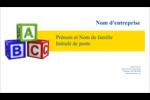 Blocs pour enfants Cartes Pour Le Bureau - gabarit prédéfini. <br/>Utilisez notre logiciel Avery Design & Print Online pour personnaliser facilement la conception.