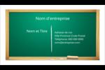 Tableau vert Cartes Pour Le Bureau - gabarit prédéfini. <br/>Utilisez notre logiciel Avery Design & Print Online pour personnaliser facilement la conception.
