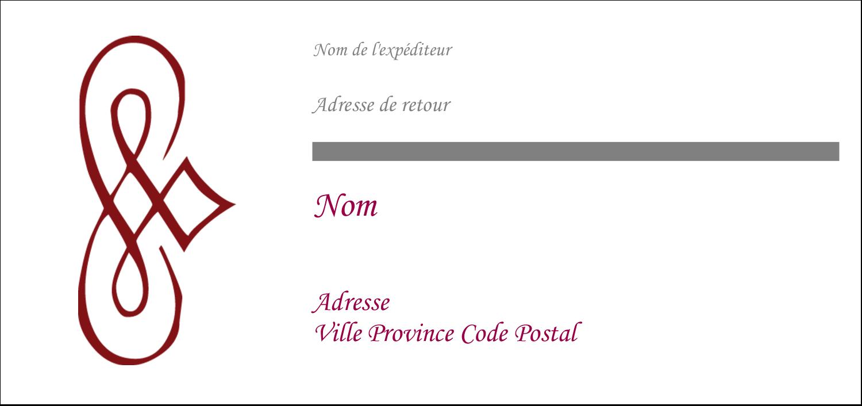 """2-13/16"""" x 1½"""" Étiquettes Pour Copieurs - Diamant stylisé"""