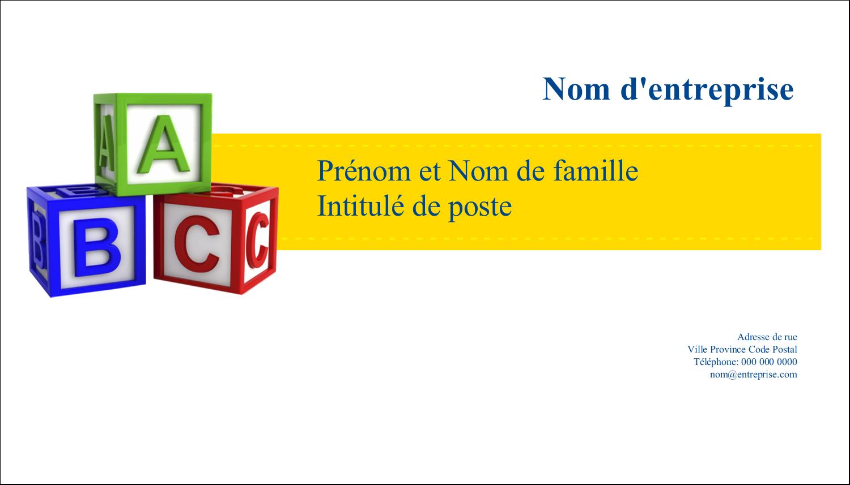 """2"""" x 3½"""" Carte d'affaire - Blocs pour enfants"""
