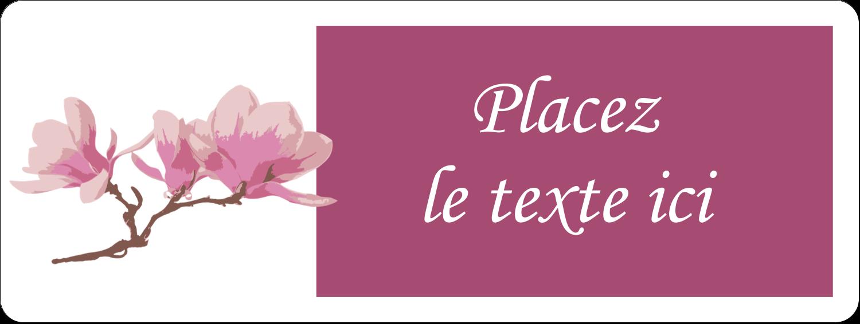 """⅔"""" x 1¾"""" Étiquettes D'Adresse - Magnolia printanier"""