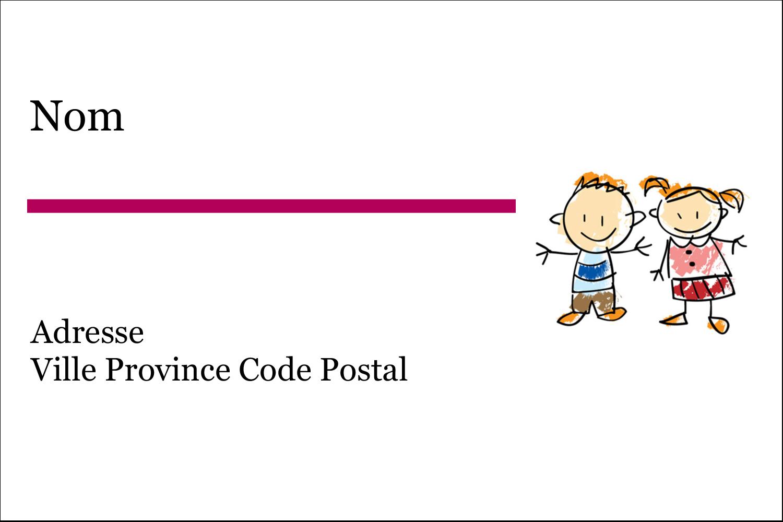 """3"""" x 2"""" Étiquettes Polyvalentes - Éducation des enfants"""